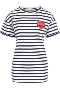 Хлопковая футболка в полоску с нашивкой Etre Cecile