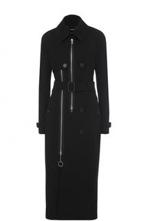 Приталенное пальто с поясом Givenchy