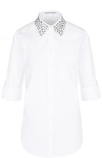 Блуза с укороченными рукавами и декорированным воротником Alice + Olivia
