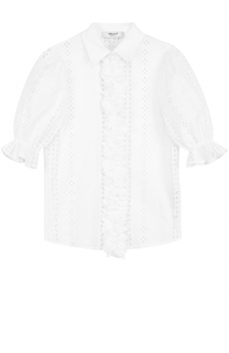 Кружевная блуза с оборками Blugirl
