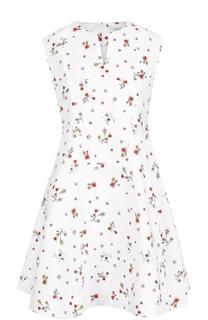 Приталенное мини-платье с цветочным принтом Carven