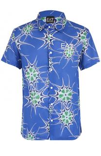 Рубашка с короткими рукавами с принтом Emporio Armani