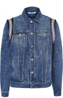 Джинсовая куртка с контрастными вставками Givenchy