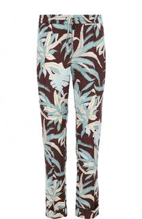Шелковые брюки с принтом Valentino