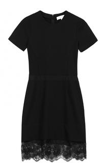 Облегающее мини-платье с кружевной отделкой Carven