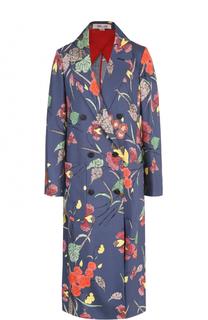 Шелковое пальто с цветочным принтом Diane Von Furstenberg
