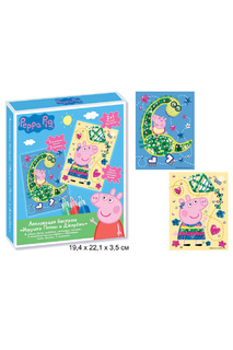 Аппликация бисером Peppa Pig