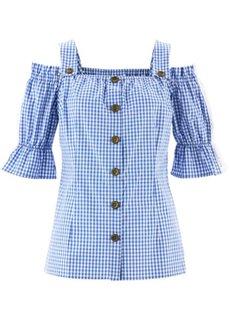 Блузка в баварском стиле (небесно-голубой/белый в клетку) Bonprix