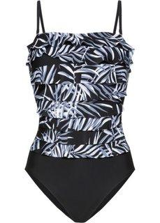 Формирующий купальник (черный/серый) Bonprix