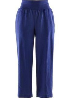 Льняные брюки-кюлоты (темно-синий) Bonprix