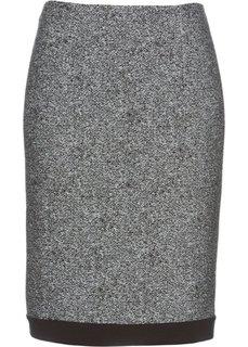 Юбка (серый/черный меланж) Bonprix