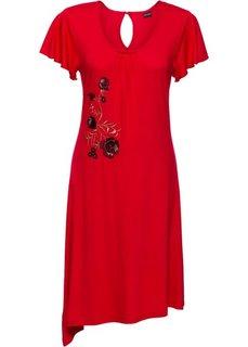 Классика гардероба: платье с вышивкой (красный) Bonprix