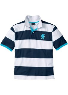 Футболка поло Regular Fit (темно-синий/белый в полоску) Bonprix