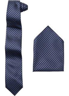 Галстук + платок (2 изд.) (черный в полоску) Bonprix
