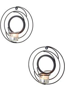 Настенный подсвечник Спираль (2 шт.) (черный) Bonprix