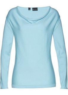 Пуловер (синий пастельный) Bonprix