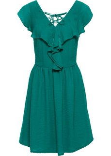 Платье с воланом (темно-изумрудный) Bonprix