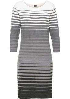Вязаное платье (серый/белый в полоску) Bonprix