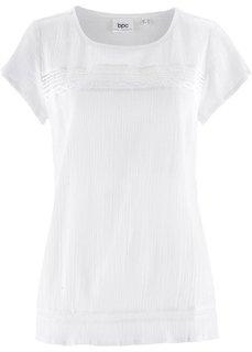 Туника с мини-рукавами (белый) Bonprix