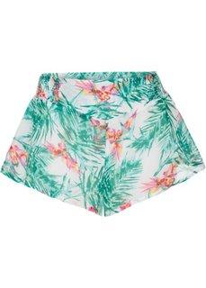 Пляжные шорты (белый/бирюзовый) Bonprix