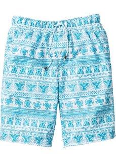 Пляжные бермуды (белый/синий с рисунком) Bonprix