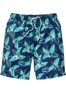 Пляжные бермуды (темно-синий с рисунком) Bonprix