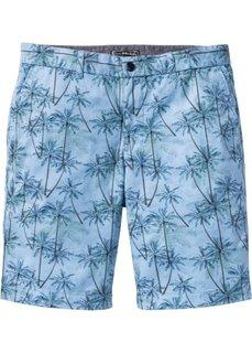Бермуды-чиносы Regular Fit (нежно-голубой с рисунком) Bonprix