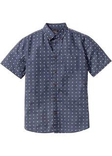 Рубашка с коротким рукавом и мелким узором Regular Fit (темно-синий с узором) Bonprix