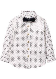 Рубашка с принтом + бабочка (2 изд.), Размеры  80/86-128/134 (цвет белой шерсти с рисунком) Bonprix