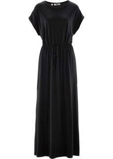 Макси-платье с фантазийным принтом (черный) Bonprix