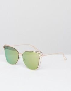 Солнцезащитные очки кошачий глаз с плоскими стеклами AJ Morgan - Розовый