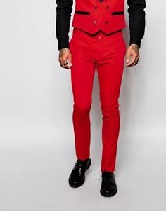 Зауженные брюки Religion - Красный