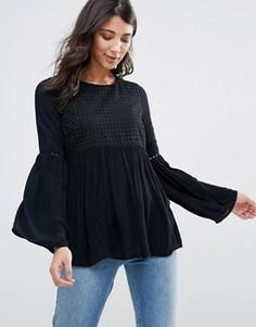 Блузка с расклешенными рукавами Only Lupina - Черный