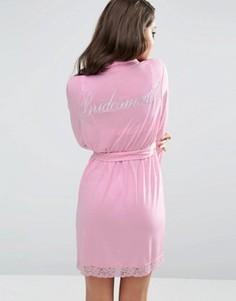 Халат для подружки невесты ASOS BRIDAL - Розовый