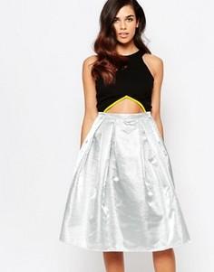 Платье миди для выпускного Lashes Of London - Серебряный