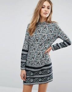 Цельнокройное платье с принтом пейсли Rollas - Мульти