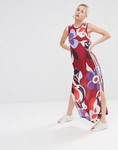 Платье макси из шифона с принтом adidas Originals X Rita Ora - Мульти