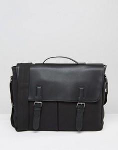 Парусиновый портфель с карманами спереди ASOS - Черный