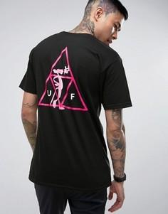 Футболка с принтом на спине HUF x Pink Panther - Черный
