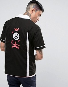 Рубашка для боулинга с принтом на спине HUF x Pink Panther - Черный