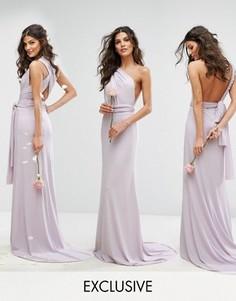 Платье-трансформер длины макси TFNC WEDDING - Фиолетовый