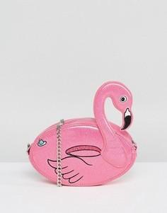 Сумка через плечо с фламинго Skinnydip - Розовый