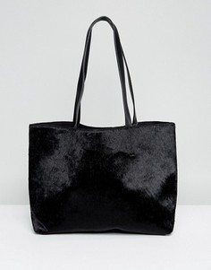 Черная сумка-тоут из искусственной кожи пони Skinnydip - Черный