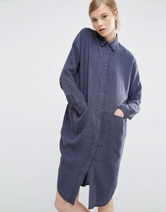 Платье-рубашка с карманами по бокам Paisie - Серый