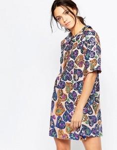 Свободное платье с пайетками Ivana Helsinki Irene - Мульти