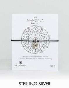 Кожаный браслет с подвеской эксклюзивно для Dogeared Mandala - Серебряный