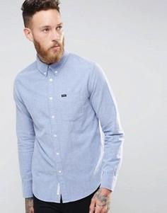 Синяя оксфордская рубашка с начесом и застежкой на пуговицы Lee - Синий