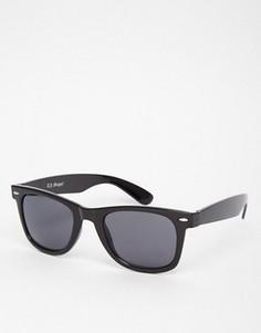 Солнцезащитные очки в черной квадратной оправе AJ Morgan Fresh - Черный