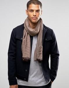 Хлопковый шарф с логотипом Calvin Klein CK City - Коричневый