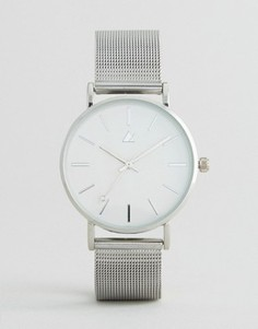 Часы с сетчатым ремешком ASOS CURVE - Серебряный
